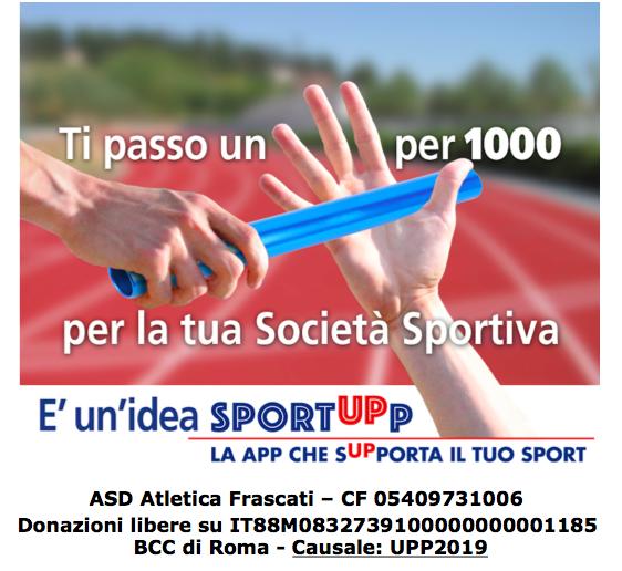 Supporta ASD Atletica Frascati tramite SportUPp